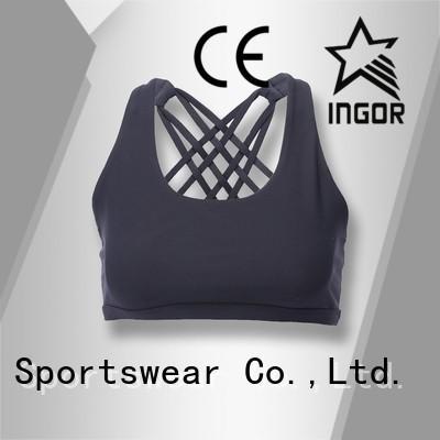 INGOR Brand purple womens colorful sports bras quality