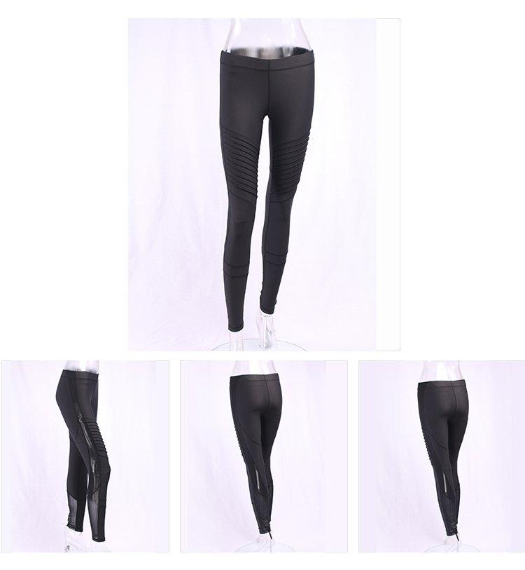 light grey yoga leggings blue with high quality for ladies-3