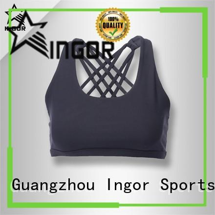purple compression sports bra with high quality for girls INGOR