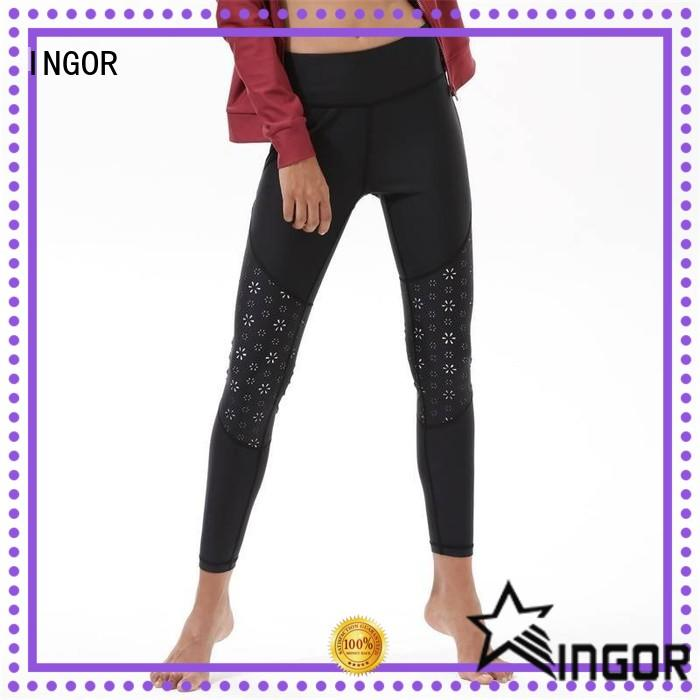 INGOR light gray yoga leggings with four needles six threads