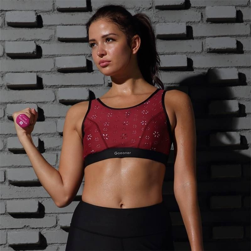 Women's Sports Wireless Bras Burgandy Y1921B21