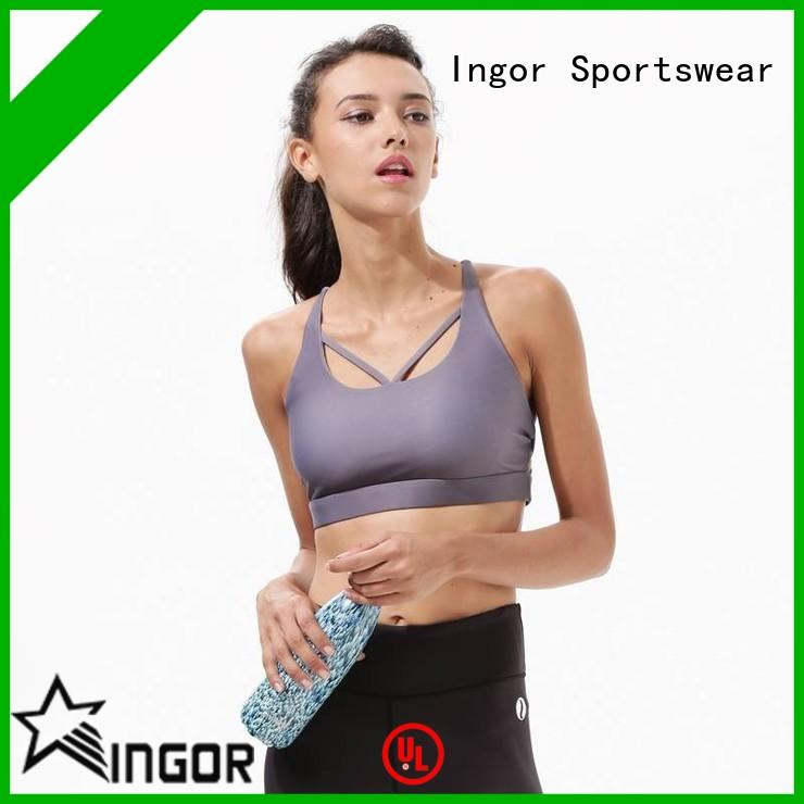 online sports bra without racerback pink with high quality for girls