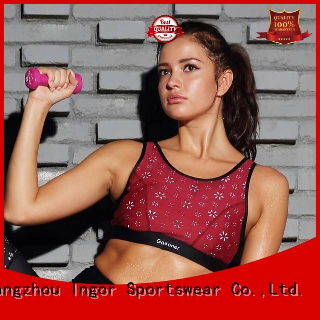 colorful sports bras sexy tops sports bra ladies INGOR Brand