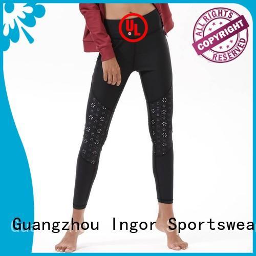 mesh yoga pants floral INGOR company