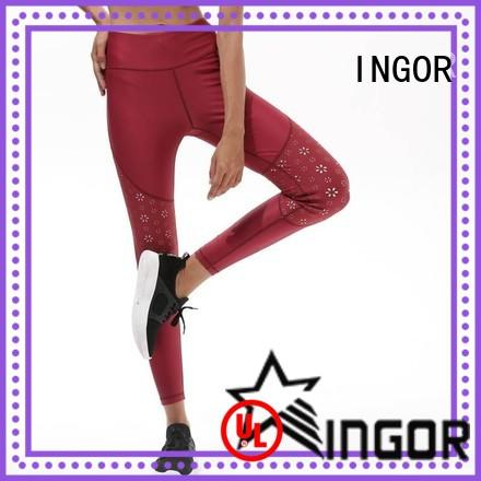 durability cut out yoga leggings tights with high quality for girls