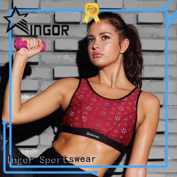 INGOR padded maroon sports bra to enhance the capacity of sports for ladies