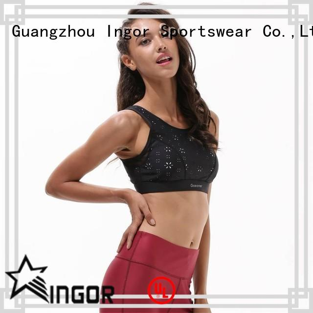 INGOR Brand bra pink wireless custom colorful sports bras