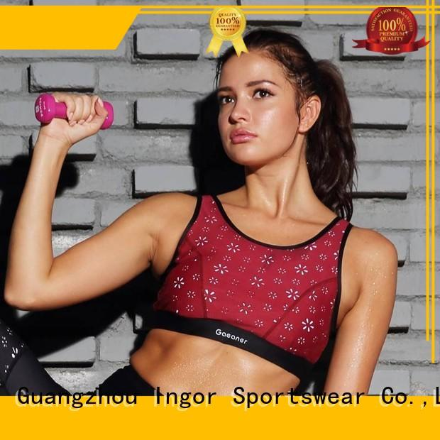 Wholesale strappy colorful sports bras INGOR Brand