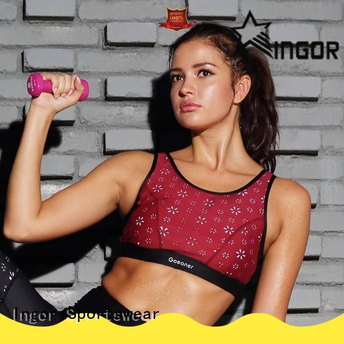 INGOR wireless compression sports bra with high quality at the gym