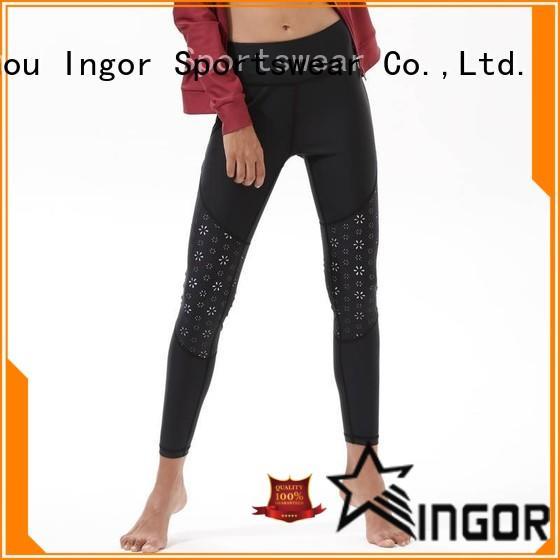 INGOR leggings plain black yoga leggings with high quality for yoga