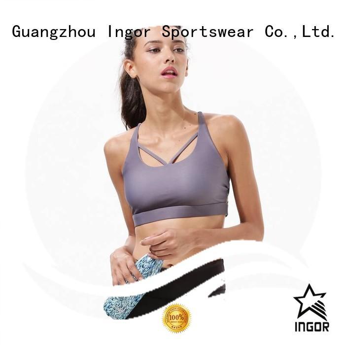cross grey padded sports bra sports INGOR