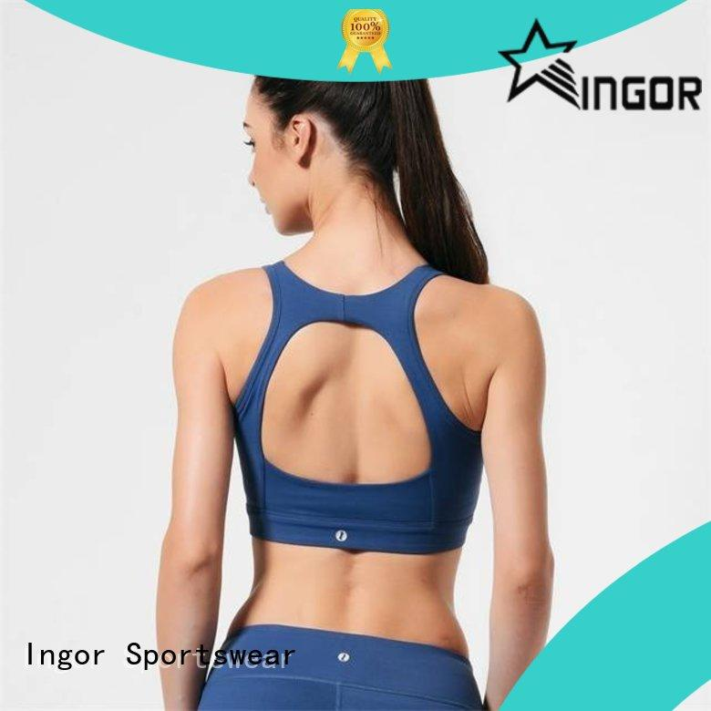 INGOR breathable cross front sports bra to enhance the capacity of sports for sport