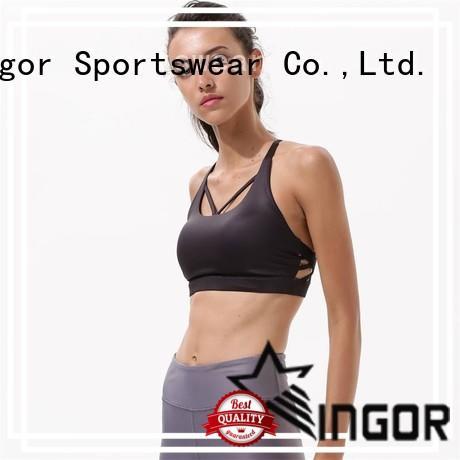 INGOR custom navy blue sports bra to enhance the capacity of sports for women