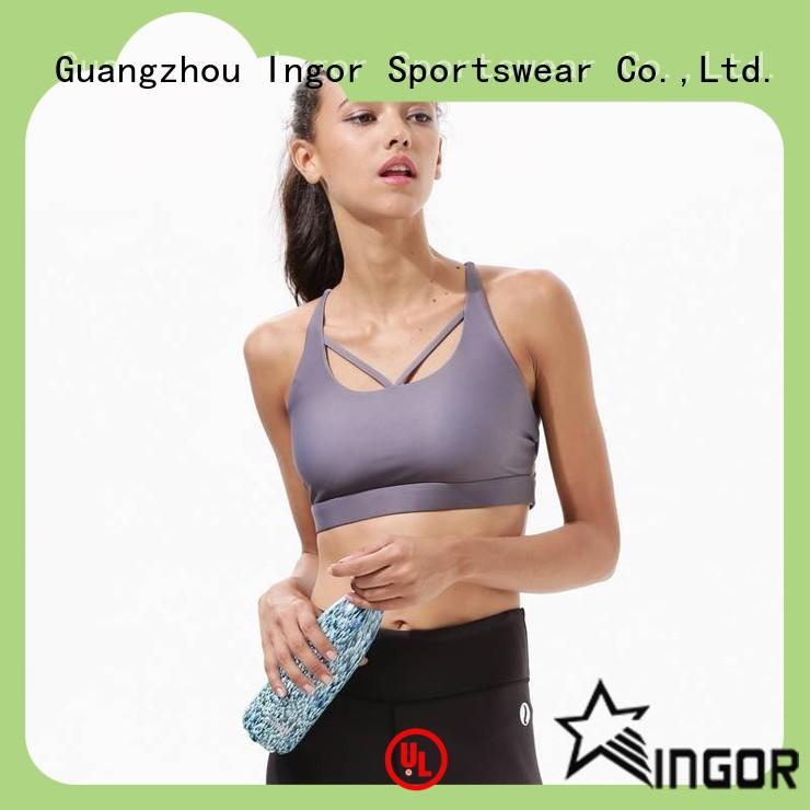 INGOR patterned compression sports bra on sale at the gym