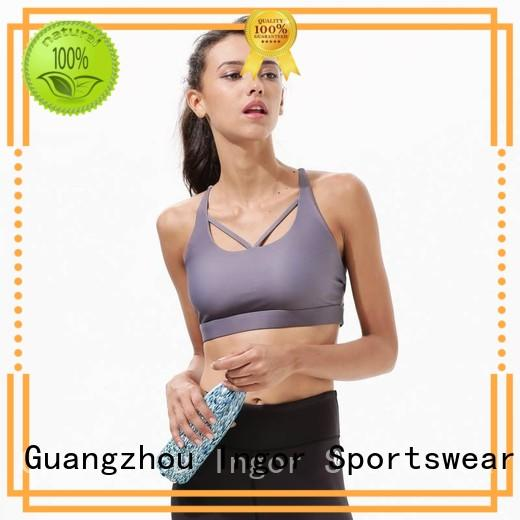 white sports bra design INGOR company