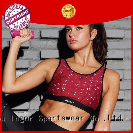 longline front sports bra INGOR Brand
