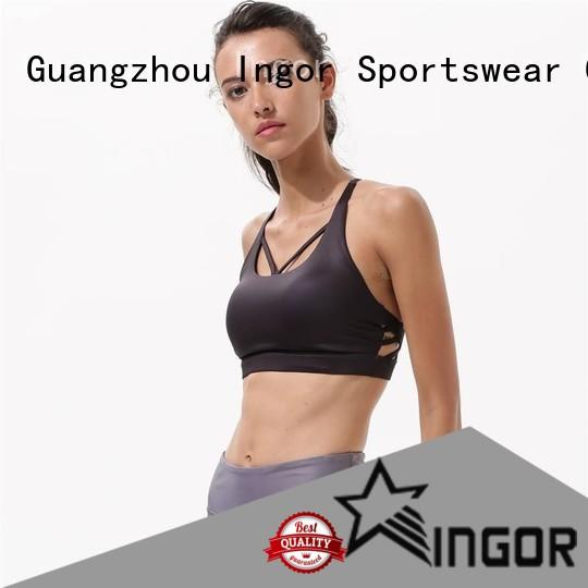 INGOR neck best compression sports bra on sale for sport