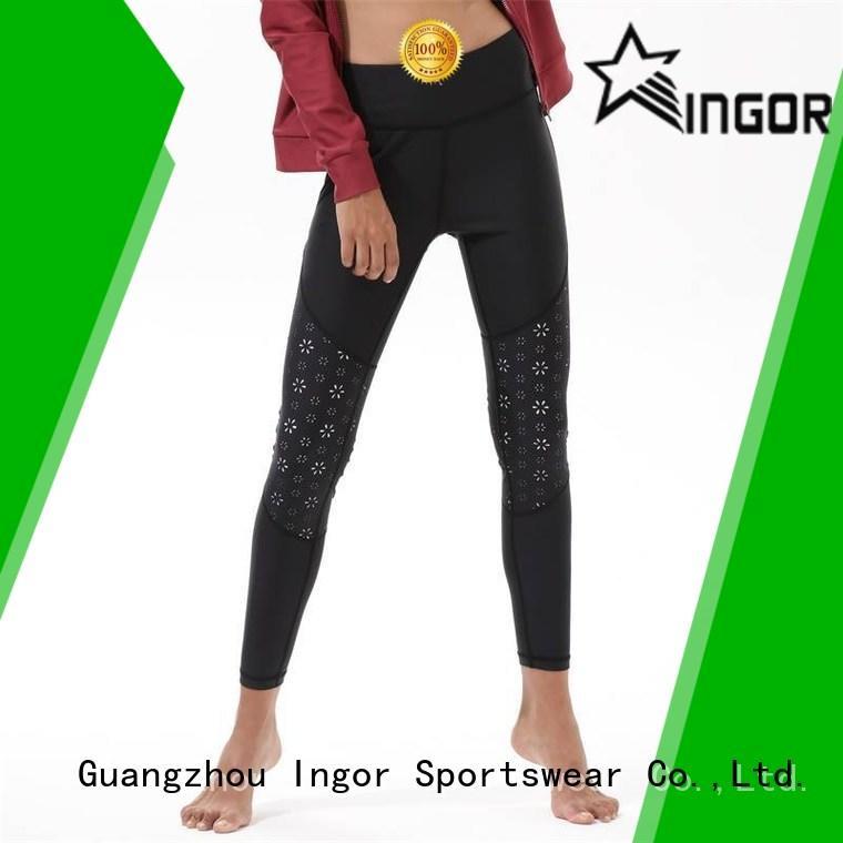 Yoga Black Leggings For Women Y1921P22
