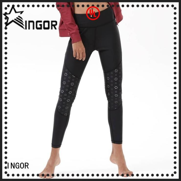 INGOR blue skinny yoga leggings with high quality for girls