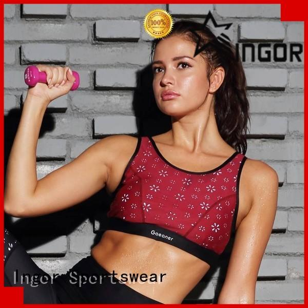 INGOR soft sports bra to enhance the capacity of sports for ladies