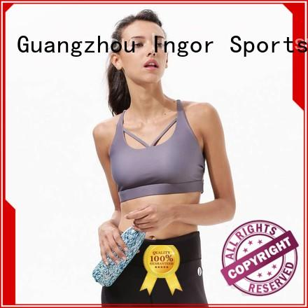 Quality INGOR Brand colorful sports bras tops