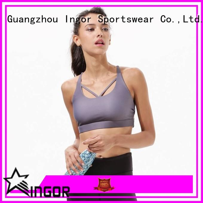 INGOR soft cute padded sports bras to enhance the capacity of sports for girls