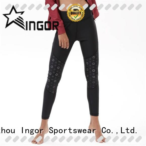 burgundy yoga leggings printed with high quality for ladies