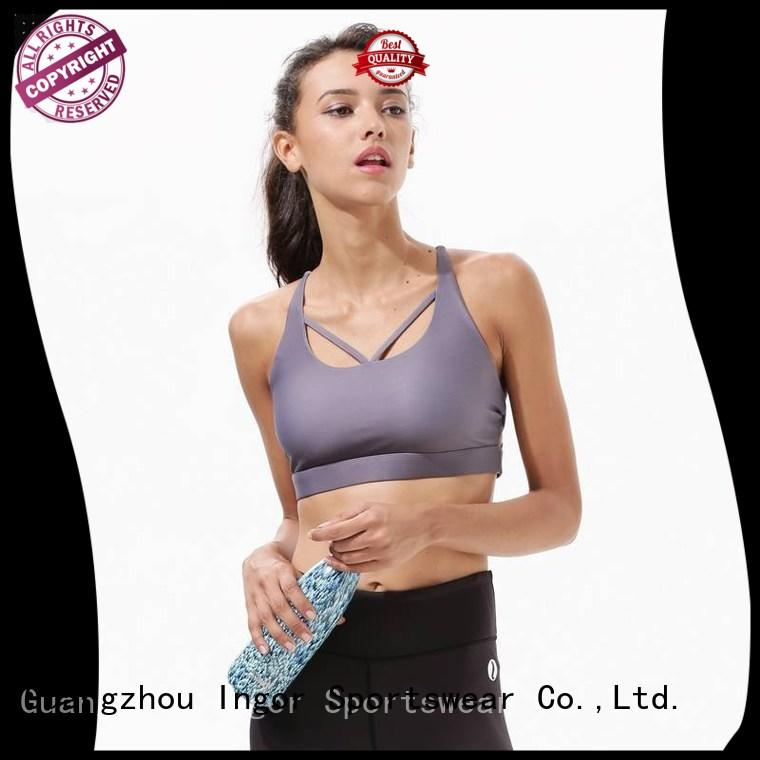 pink support womens colorful sports bras INGOR manufacture