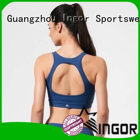 custom white cotton sports bra quality to enhance the capacity of sports for ladies