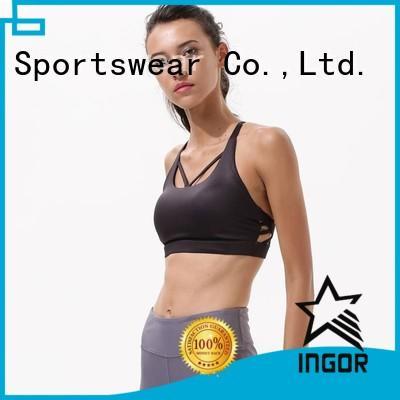 INGOR Brand front strap sports bra neck factory