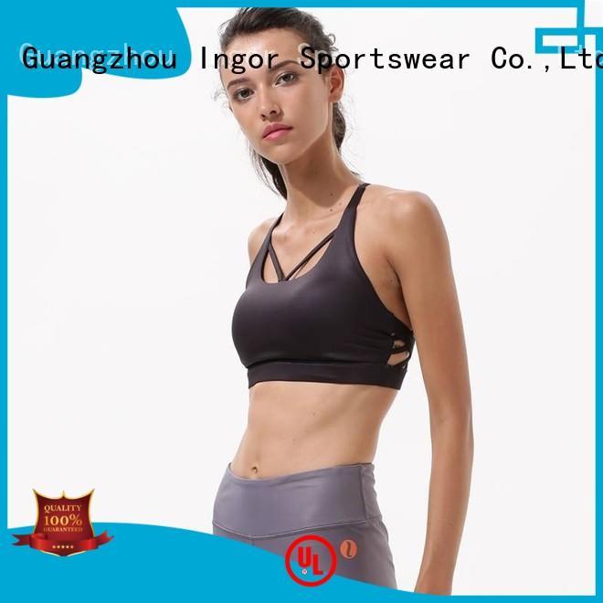colorful sports bras white INGOR Brand sports bra