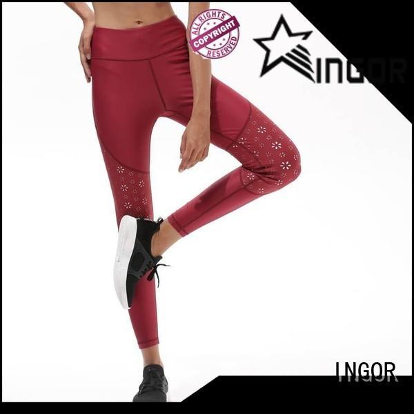 INGOR yoga leggings with four needles six threads