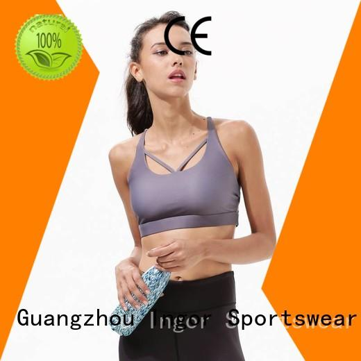 colorful sports bras top support back INGOR Brand company