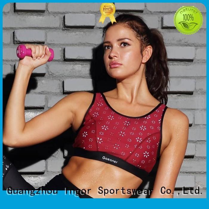 Women's Sports Wireless Bras Burgandy Y1921B21