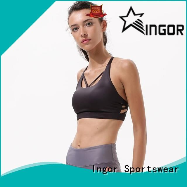 INGOR strappy royal blue sports bra on sale for sport