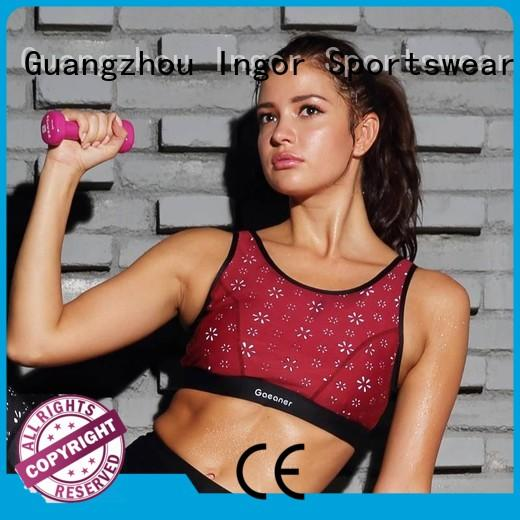 top Custom strap sports bra women INGOR