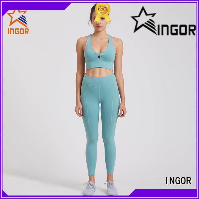 INGOR personalized women yoga set bulk production for sport