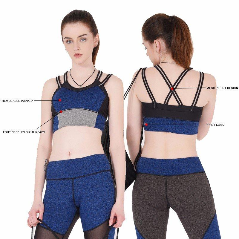 colorful sports bras grey pink INGOR Brand company