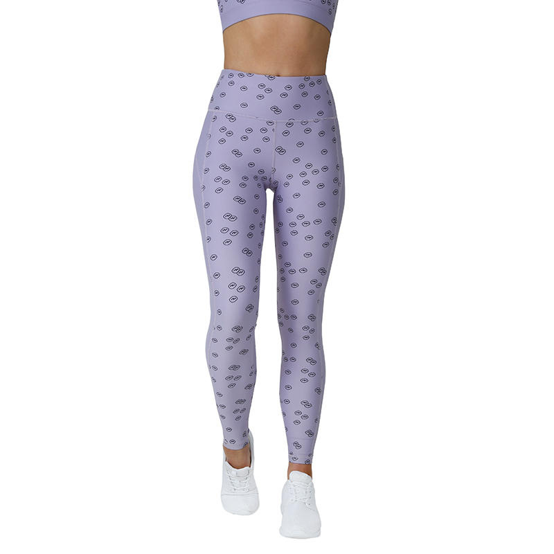 Custom Polyester Fitness 2 Piece Sublimation Print Women Yoga Gym Wear Sports Bra Leggings Sets