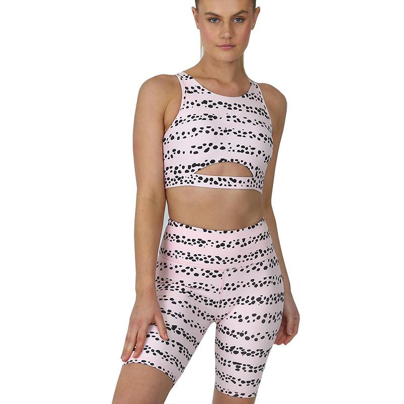 Stylish Activewear Customize Sublimation Women Workout Gym Sports Bra And Shorts Set