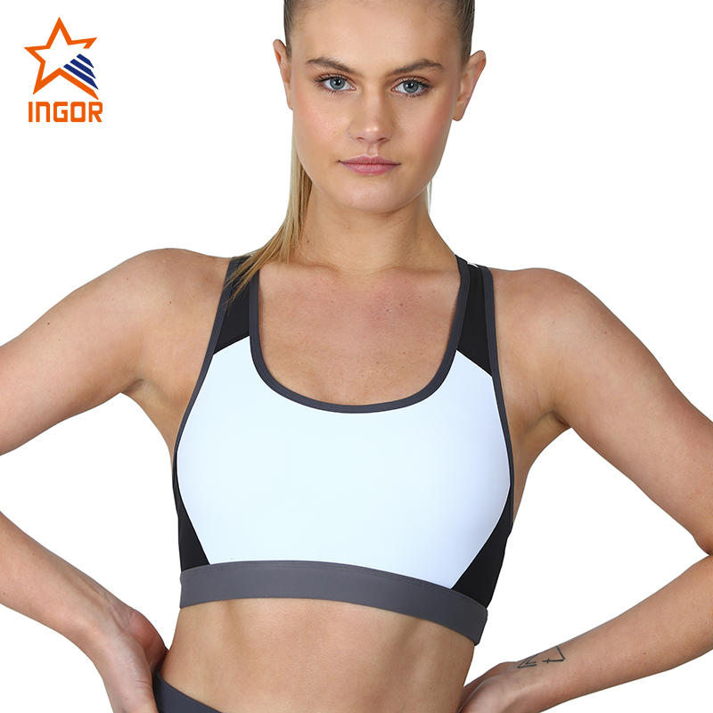 Recycle Yoga Wear RacerBack PushUp 4-Way Stretch Fitness Sports Bras Custom For Women