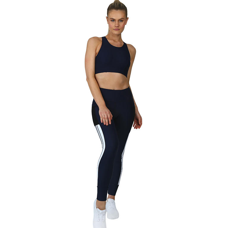 Fitness Workout Sports Bra And Panty Sets Custom Made High Waist Leggings With Pockets