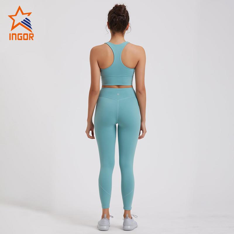 Women Racerback Sports Bra Workout Yoga Set