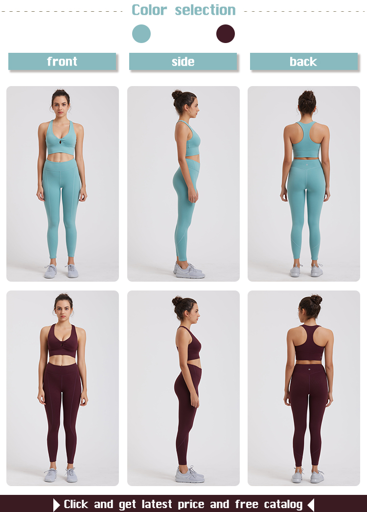 high quality women yoga set factory price for ladies-5