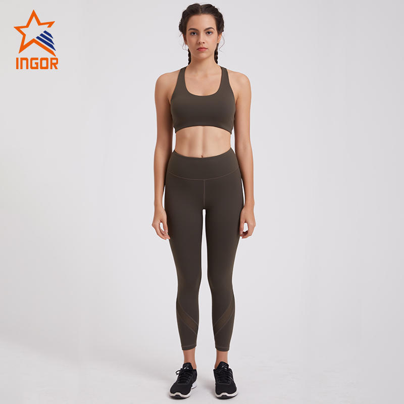 New Design High Support Ladies Yoga Bra Workout Set