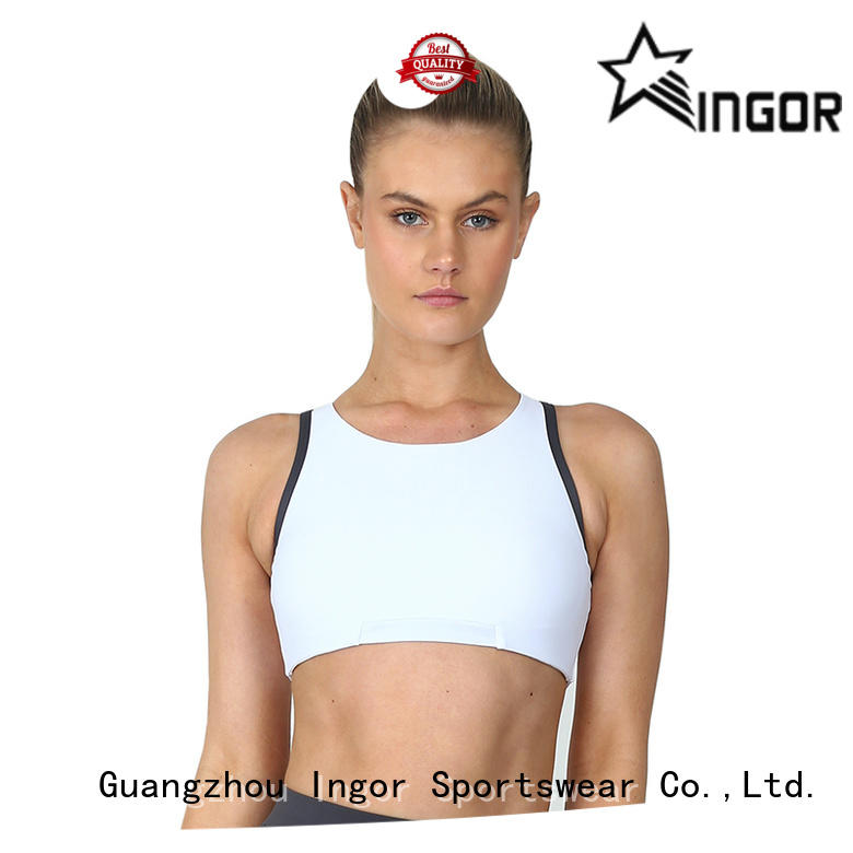 INGOR soft sports bra from the back with high quality for women