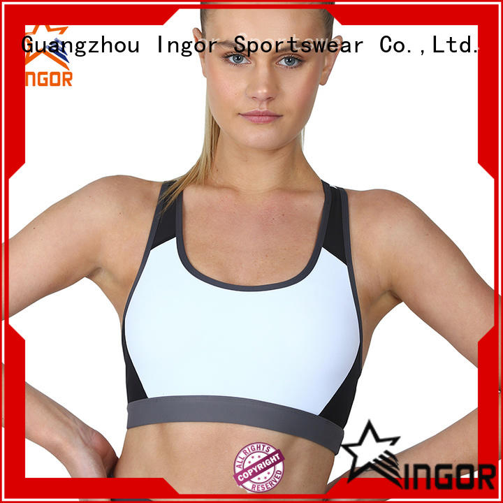 INGOR plain d cup sports bra on sale at the gym