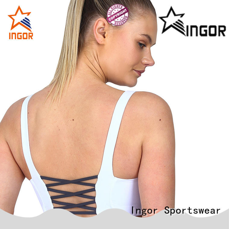 INGOR neck women's sports bras sale with high quality for ladies