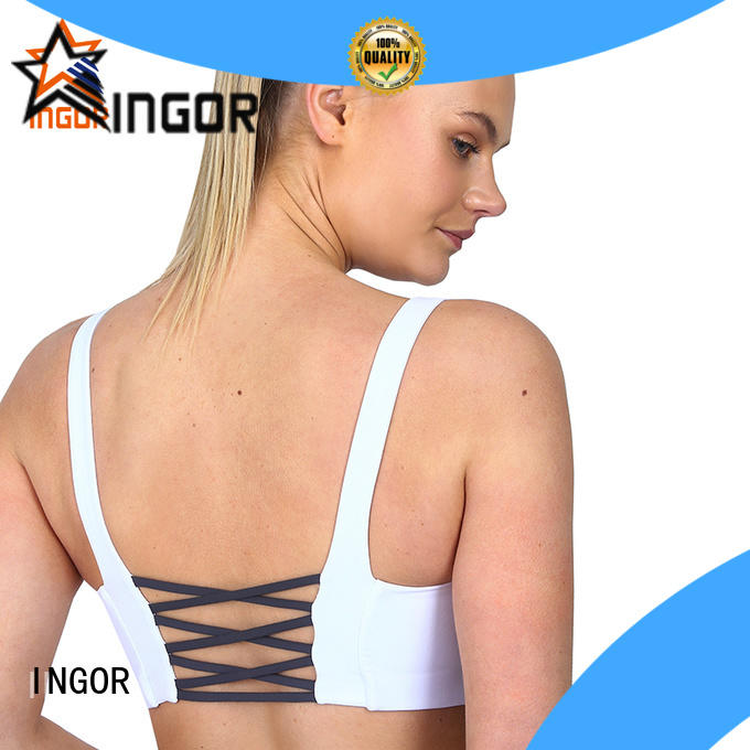 INGOR strappy wired sports bra with high quality at the gym