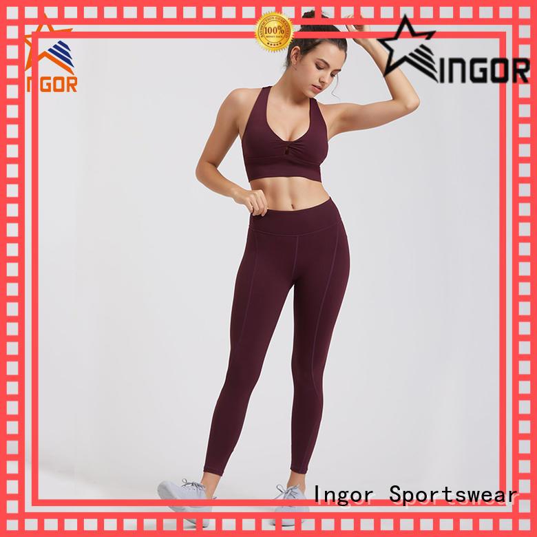 custom women yoga set for manufacturer for gym